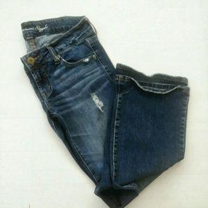 AEO Favorite Boyfriend Dark Wash Jeans Size 4 Reg